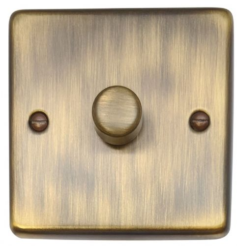 G&H CAB11 Standard Plate Antique Bronze 1 Gang 1 or 2 Way 40-400W Dimmer Switch